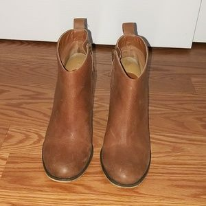 BP Brown Ankle Leather Boots 6.5